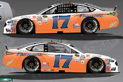Ricky Stenhouse Jr., Roush Fenway Racing Ford met speciale oude livery