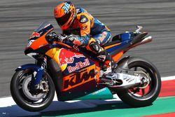 Mika Kallio, muestra la KTM MotoGP