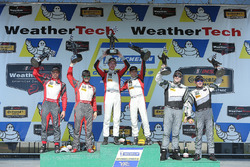 GTD Podium: first place Madison Snow, Bryan Sellers, Paul Miller Racing, second place Matt Bell, Law