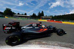 Fernando Alonso, McLaren on track.
