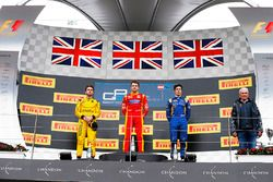 Podium: race winner Jordan King, Racing Engineering, second place Oliver Rowland, MP Motorsport, third place Alex Lynn, DAMS