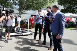 Mark Webber, Steve Jones en David Coulthard, Channel 4 F1