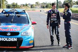 Daniel Ricciardo, Red Bull Racing drives a V8 Supercar with Jamie Whincup, Triple Eight Race Engineering