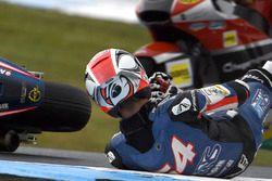 Chute de Mattia Pasini, Italtrans Racing Team