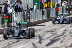 Nico Rosberg en Lewis Hamilton, Mercedes AMG F1 W07 Hybrid