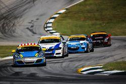 #36 Strategic Wealth Racing Porsche Cayman: Matthew Dicken, Corey Lewis, #81 BimmerWorld Racing BMW