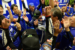 Yamaha Factory Racing Team celebrate the victory