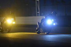 #8 Kawasaki: Horst Saiger, Michael Savary, Gianluca Vizzielo; #33 Kawasaki: Emeric Jonchiere, Anthon