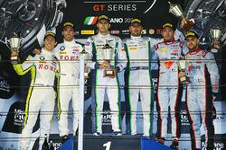Podium: Sieger Andy Soucek, Maxime Soulet; 2. Philipp Eng, Alexander Sims; 3. Frederic Vervisch, Lau
