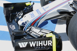 Williams FW38, detalle de la nariz del auto