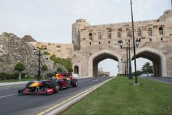David Coulthard, Red Bull Racing tijdens een demonstratie in Oman
