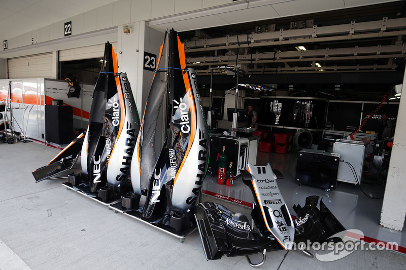 Sahara Force India F1 VJM09 engine covers and nosecone