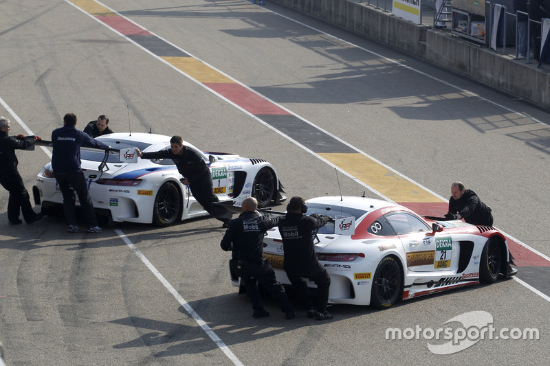 #1 AMG - Team Zakspeed Mercedes-AMG GT3: Luca Ludwig, Sebastian Asch and #21 AMG - Team Zakspeed, Me