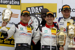 Podium: second place #29 Montaplast by Land-Motorsport, Audi R8 LMS: Connor De Phillippi, Christopher Mies