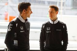 Stoffel Vandoorne, McLaren Test and Reserve Driver and Mark Temple, McLaren Race Engineer