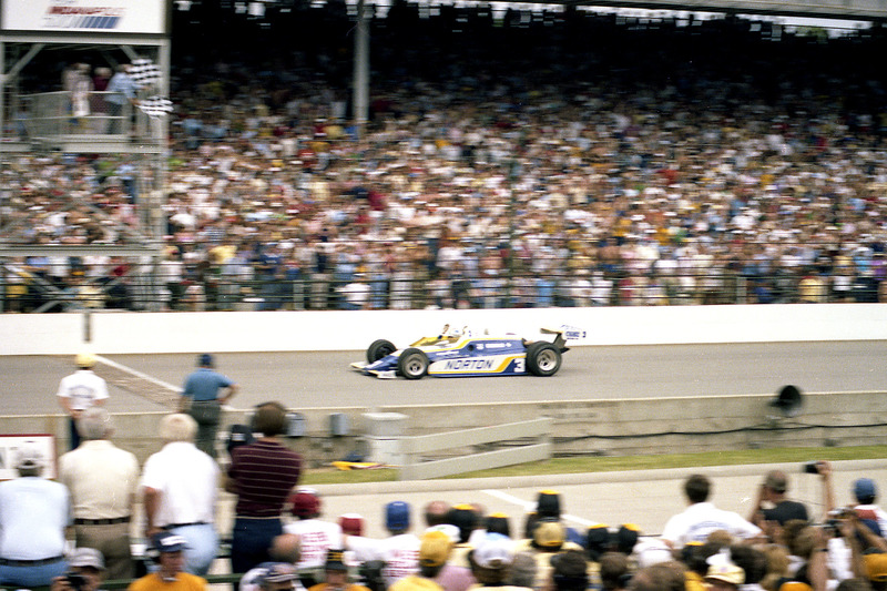 Bobby Unser's Penske PC9B-Cosworth wins the 1981 Indianapolis 500.