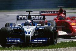 Juan Pablo Montoya ve Michael Schumacher mücadelesi