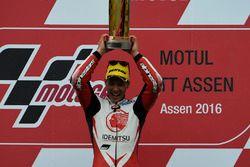 Podium : le vainqueur Takaaki Nakagami, Honda Team Asia