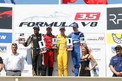 Podium: winner Louis Deletraz, Fortec Motorsports, second place Roy Nissany, Lotus, third place Egor