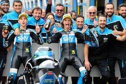 Andrea Migno, Sky Racing Team VR46 y Nicolo Bulega, Sky Racing Team VR46