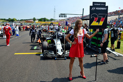La Grid Girl de Nico Hulkenberg, Sahara Force India F1 VJM09