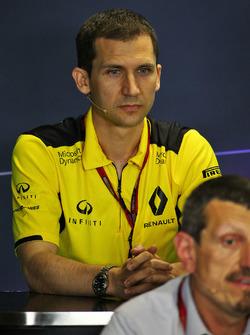 Remi Taffin, directeur technique moteur Renault Sport F1 lors de la conférence de presse de la FIA