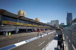 Baku city circuit atmosphere