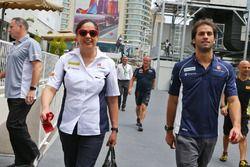 Monisha Kaltenborn, Team Principal Sauber avec Felipe Nasr, Sauber F1 Team