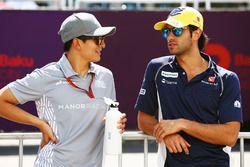 Rio Haryanto, Manor Racing yFelipe Nasr, Sauber F1 Team en el desfile de pilotos