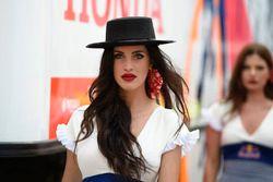 Lovely Red Bull girl