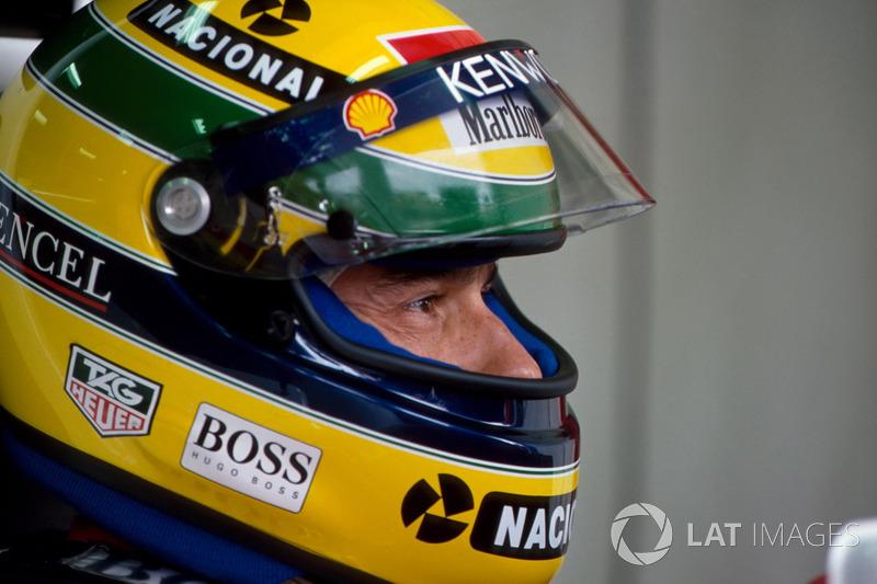 Das Australien-Wochenende 1993 beginnt für Ayrton Senna ...