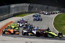 Sébastien Bourdais, Dale Coyne Racing with Vasser-Sullivan Honda, Graham Rahal, Rahal Letterman Lanigan Racing Honda