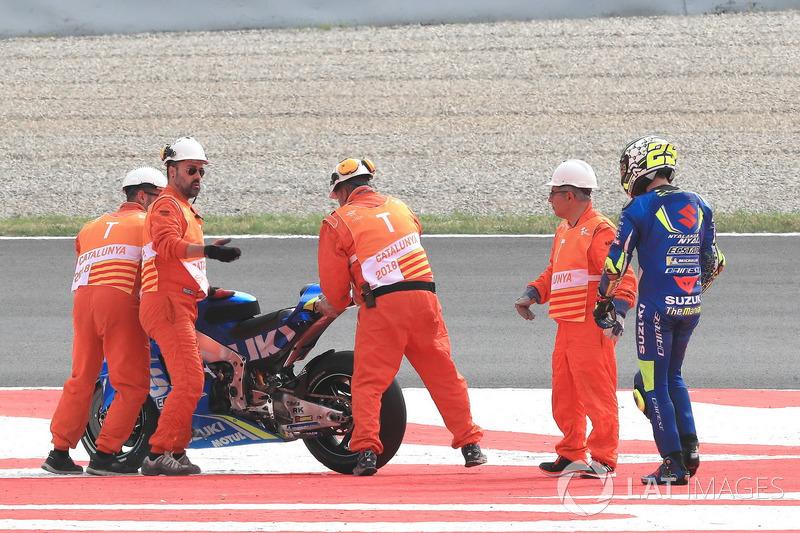 Andrea Iannone, Team Suzuki MotoGP pascakecelakaan