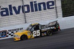 Dalton Sargeant, GMS Racing, Chevrolet Silverado Performance Plus Motor Oil hits the wall