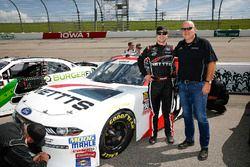Kaz Grala, Fury Race Cars LLC, Ford Mustang NETTTS with his dad Darius