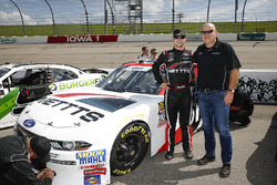 Kaz Grala, Fury Race Cars LLC, Ford Mustang NETTTS with his dad Darius