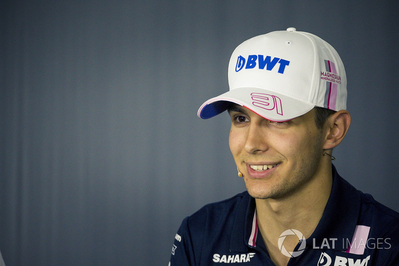Esteban Ocon, Force India F1 in the Press Conference