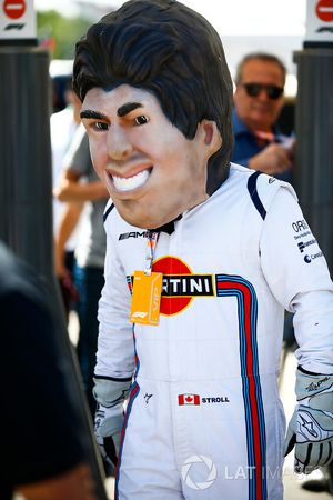 A caricature of Lance Stroll, Williams Racing