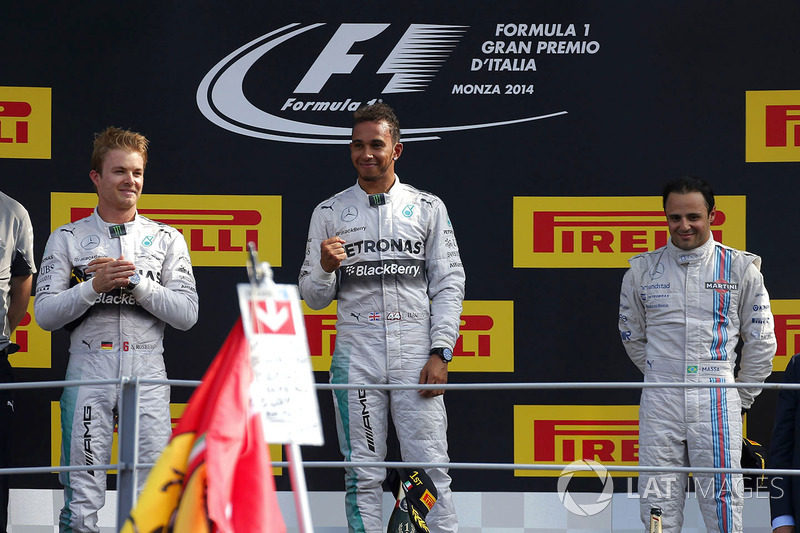 Podium: race winner Lewis Hamilton, Mercedes AMG F1, second place Nico Rosberg, Mercedes AMG F1, thi