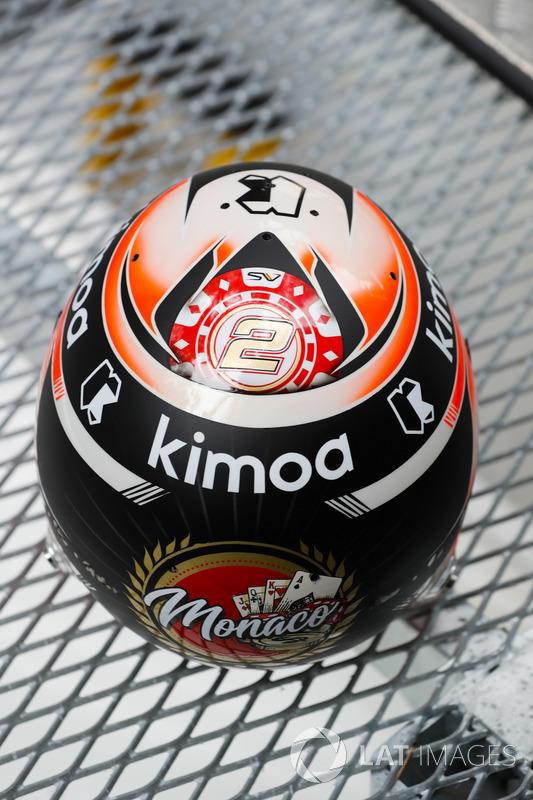 Stoffel Vandoorne, McLaren, detalle de su casco