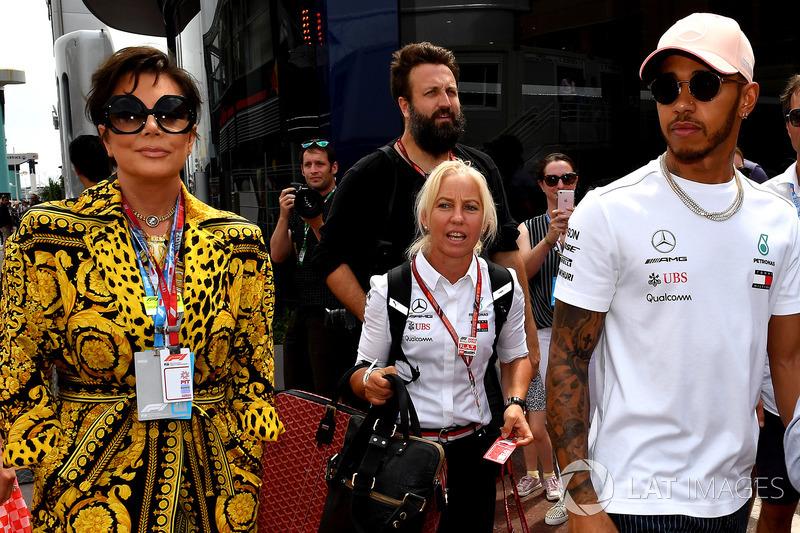 Kris Jenner és Lewis Hamilton, Mercedes-AMG F1