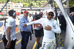 Lewis Hamilton, Mercedes AMG F1, with Niki Lauda, Non-Executive Chairman, Mercedes AMG