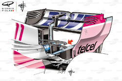 Force India VJM11 double T wing detail