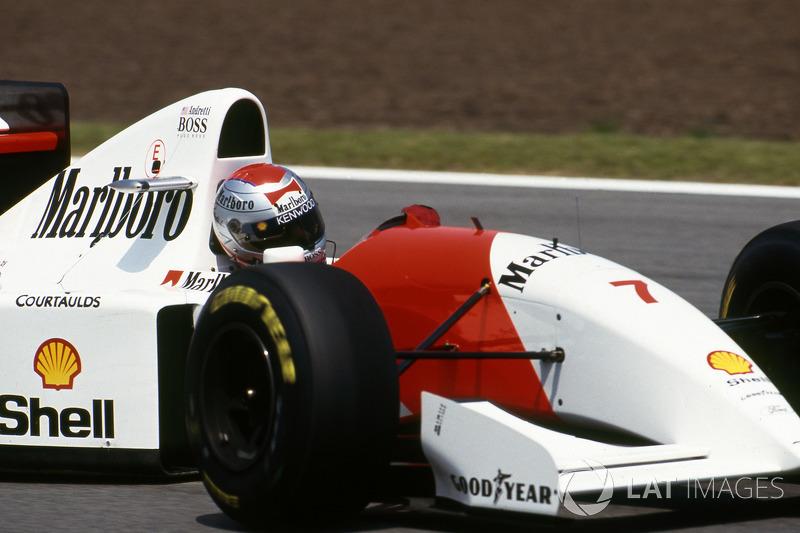 Michael Andretti, compañero de Senna, sumó puntos por primera vez