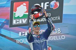 Podio: il vincitore Riccardo Rossi, Gresini Racing Junior