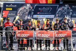 Podium: Winners #17 Team WRT Audi R8 LMS: Stuart Leonard, Frederic Vervisch, second place #1 Belgian Audi Club Team WRT Audi R8 LMS: Alex Riberas, Christopher Mies, third place #66 Attempto Racing Audi R8 LMS: Steijn Schothorst, Kelvin van der Linde