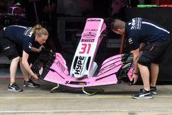 Le nez et l'aileron avant de la Force India VJM11