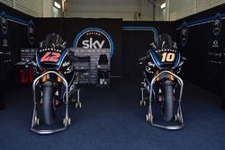Les motos de Francesco Bagnaia, Sky Racing Team VR46, et Luca Marini, Sky Racing Team VR46