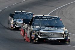Noah Gragson, Kyle Busch Motorsports, Toyota Tundra Safelite AutoGlass and Todd Gilliland, Kyle Busch Motorsports, Toyota Tundra Mobil 1