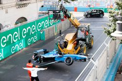 Crashed car of Nicolas Prost, Renault e.Dams